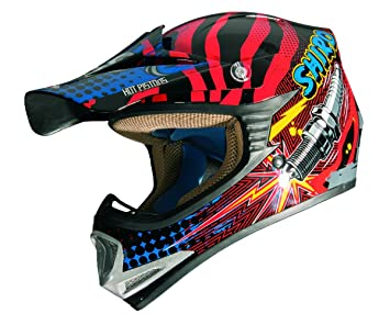 Shiro - MX-306 Casco Cross Infantil ROCKIDS Rojo (YM (51-52