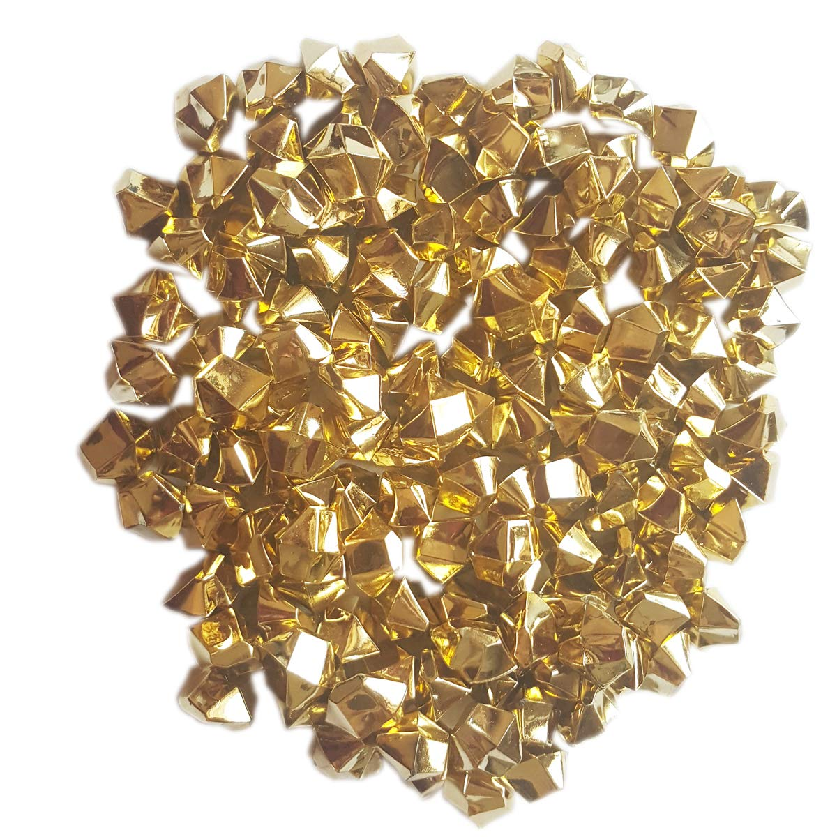 ElE&GANT 1LB(Approx 755Pcs) Plastic Metallic Gold Nuggets for Table Scatter Decoration or Vase Filler (Metallic Golden)