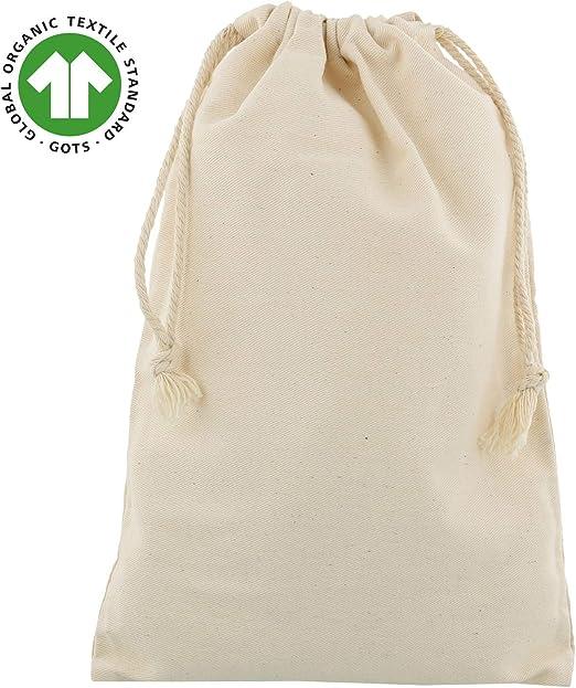 5 Bolsitas de algodón orgánico 20x30 cm: Amazon.es: Hogar