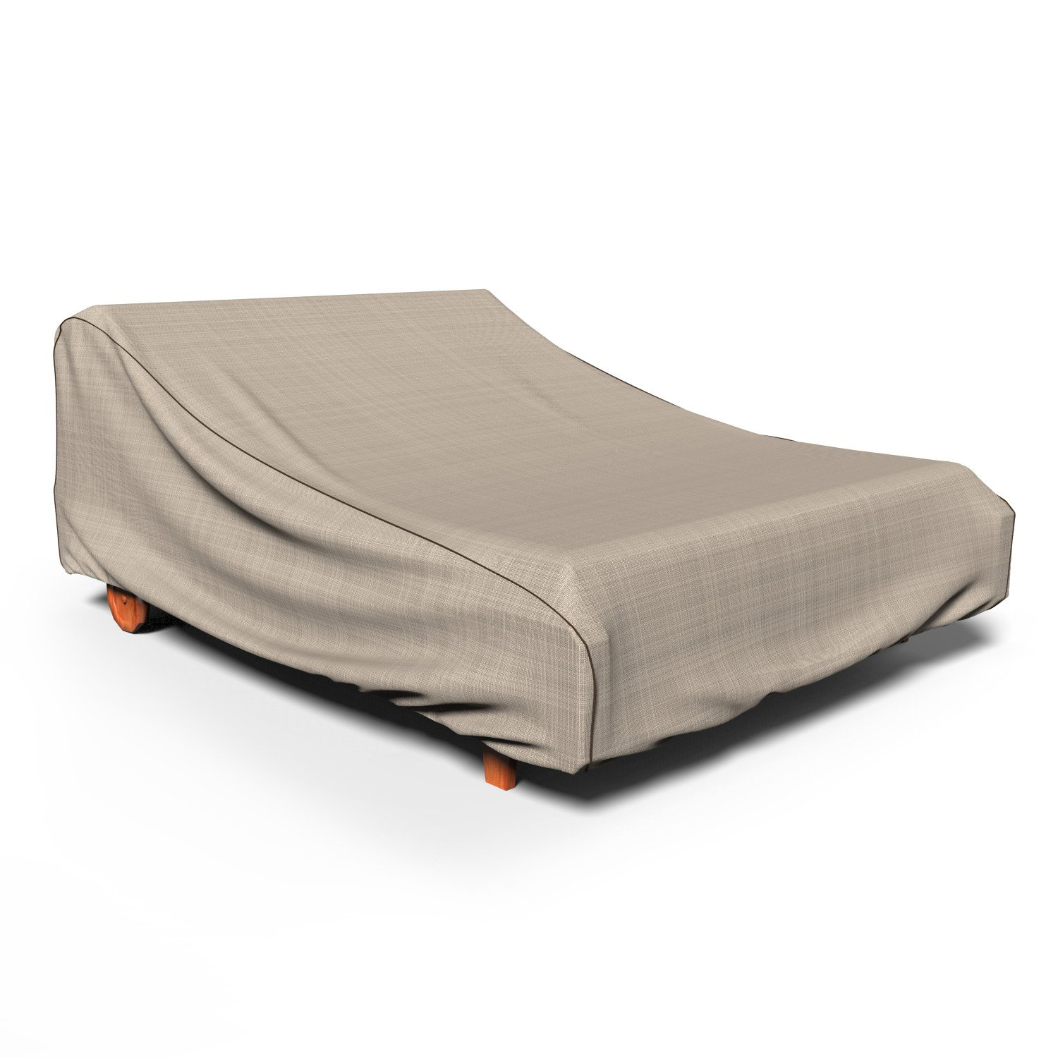 Budge P2A01PM1 English Garden Double Patio Chaise Lounge Cover, 32''H x 64''W x 80''D, Tan Tweed
