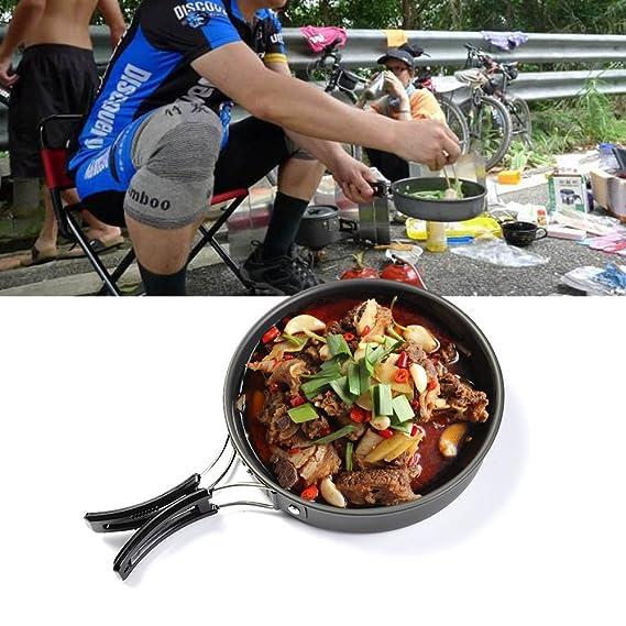 SKR – Juego de batería de cocina para acampada y senderismo: Amazon.es: Deportes y aire libre