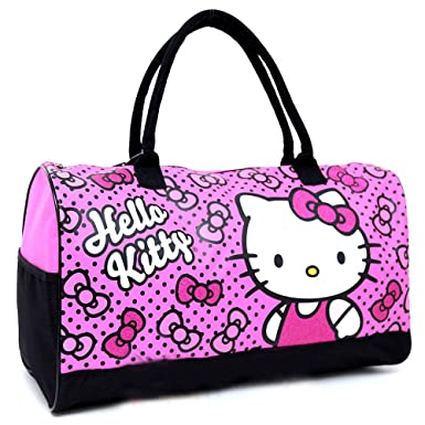 f924f691d Image Unavailable. Image not available for. Color: Sanrio Hello Kitty  Duffle Bag Travel ...