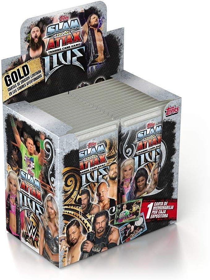 Topps- WWE Trading Card Slam Attax-30 Booster Pack Display (14903DI): Amazon.es: Juguetes y juegos
