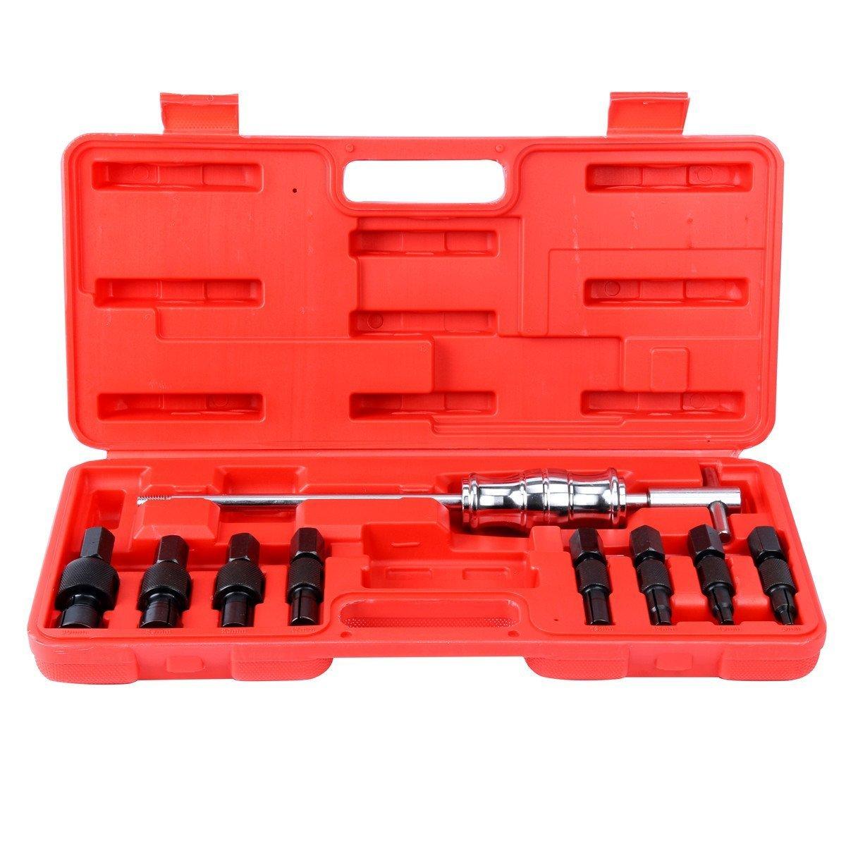 8MILELAKE Internal Bearing Remover Slide Hammer Set 9pc Blind Hole Inner Puller Set