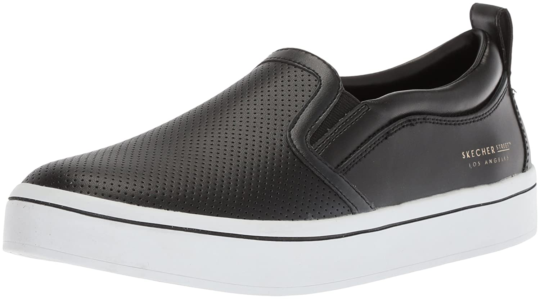 Skechers Women's Hi-Lite-Perfed Leather Sneaker B074CMJRQZ 5 M US|Black