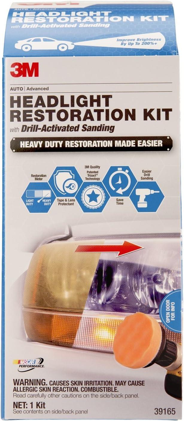 3M 39165 Headlight Restoration Kit Drill-Activated Sanding Heavy Duty 1 Set