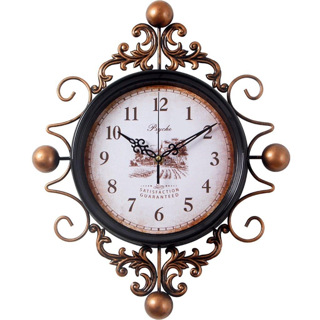 リビングルーム時計時計の壁時計リビングルームクリエイティブウォールチャートシンプルなベッドルームクォーツ時計ミュート時計の壁時計 B07FB6ZSTJ