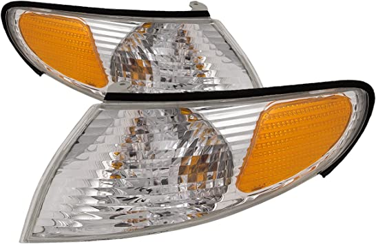 Driver and Passenger Park Signal Corner Marker Lights Lamps Replacement for Toyota 81520-AA030 81510-AA030 AutoAndArt