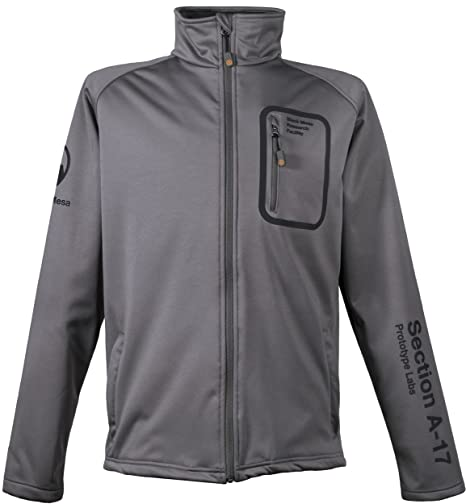 Musterbrand Half-Life Chaqueta Softshell Hombre Anomalous Materials Neoprene Soft-Shell Gris XS: Amazon.es: Ropa y accesorios