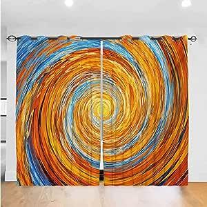 Amazon.com: Mozenou Fractal Light Luxury Curtains Hippie
