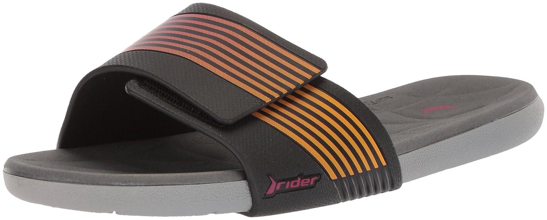 Rider Women's Prana Slide Sandal B076MNWC31 9 B(M) US|Grey/Black/Pink