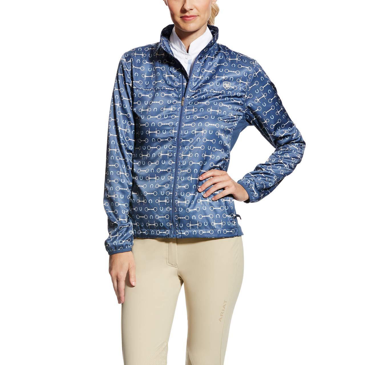 e73d03f3ca7 Ariat Women s Ideal Windbreaker Jacket Blue Bit Print 10022217 ...