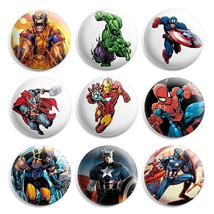 Pin Button Badge Ø38mm Xavier Instuture professeur X Marvel DC Comics X-Men