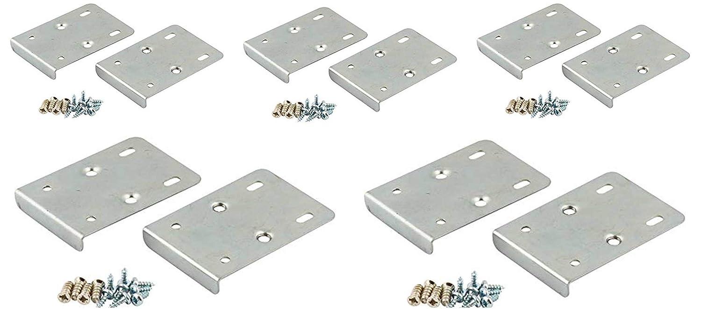 X10/kit de r/éparation de charni/ère de porte de placard de cuisine inclus 10/plaques et vis de fixation/ /Argent