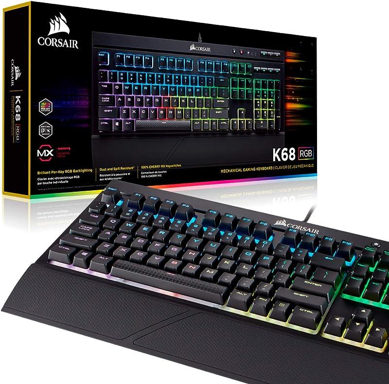 Corsair K68 RGB Mechanical Gaming Keyboard, Backlit RGB LED