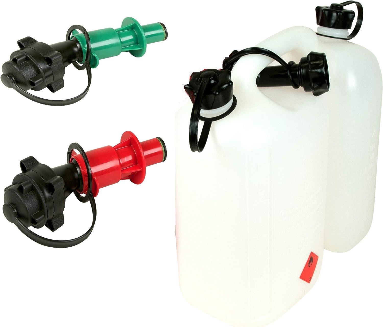5 l Bid/ón doble transparente para gasolina aceite con 2 sistemas autom/áticos de llenado 3 L gasolina