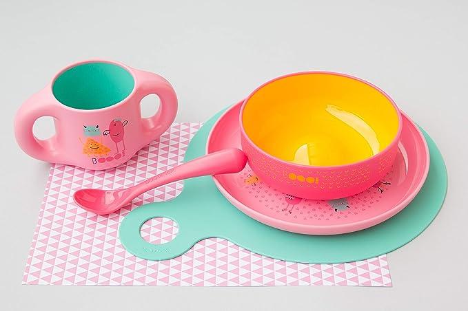 Suavinex - Pack 2 Cucharas Infantiles BOOO/Cucharas Bebé. Apta Para Lavavajillas, Color Azul