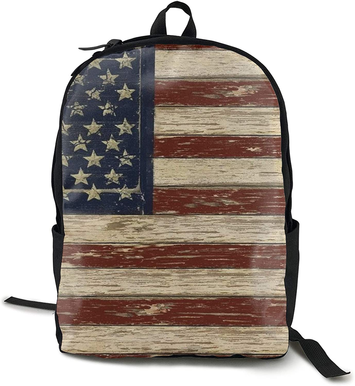 Jarra de cerveza, divertida, mochila, mochila, mochila, mochila, mochila clásica para ordenador, ligera y fuerte, bandera americana Old Glory