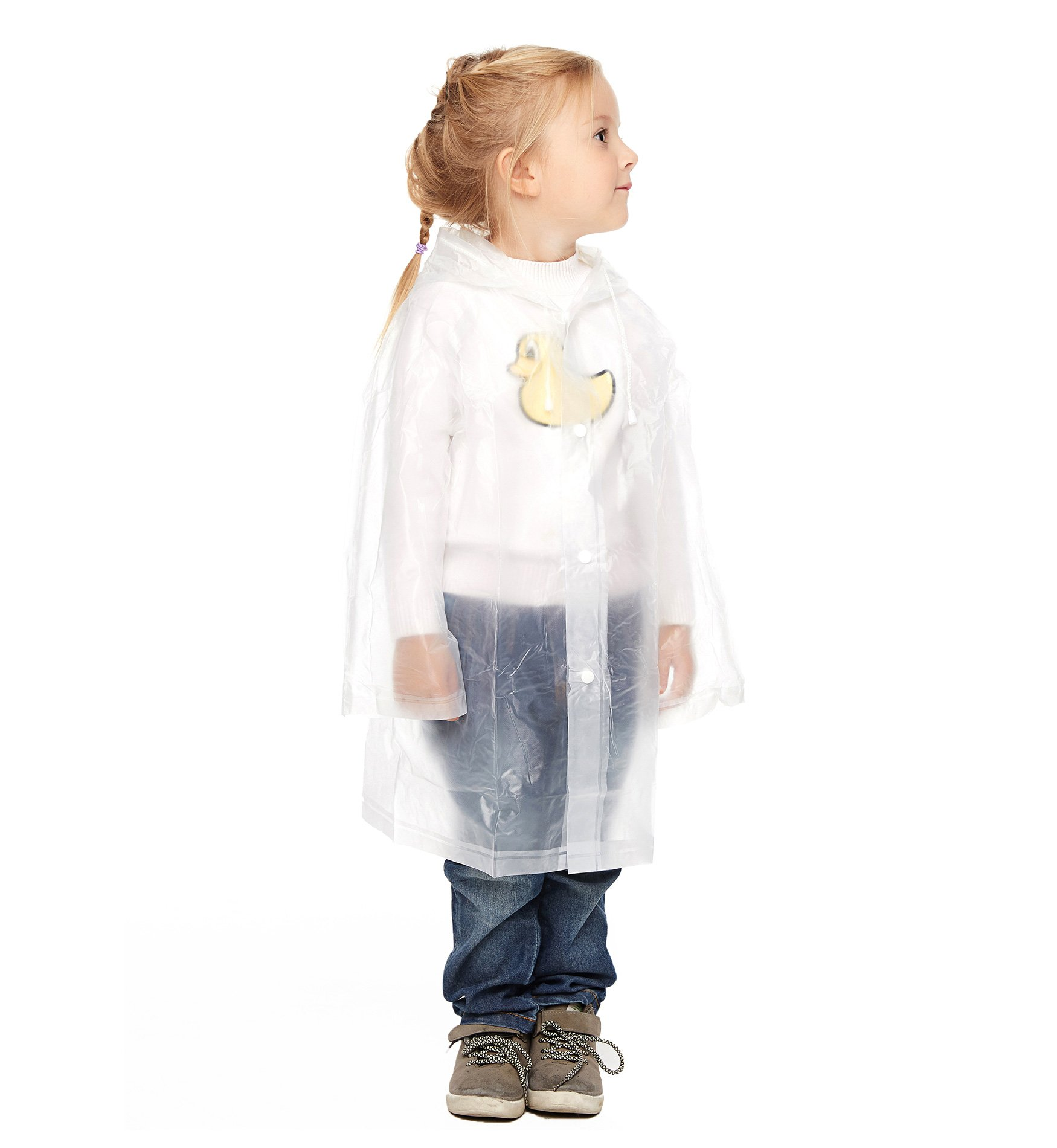 Hilarocky Lightweight Children Raincoat Waterproof Rain Ponchos Outwear