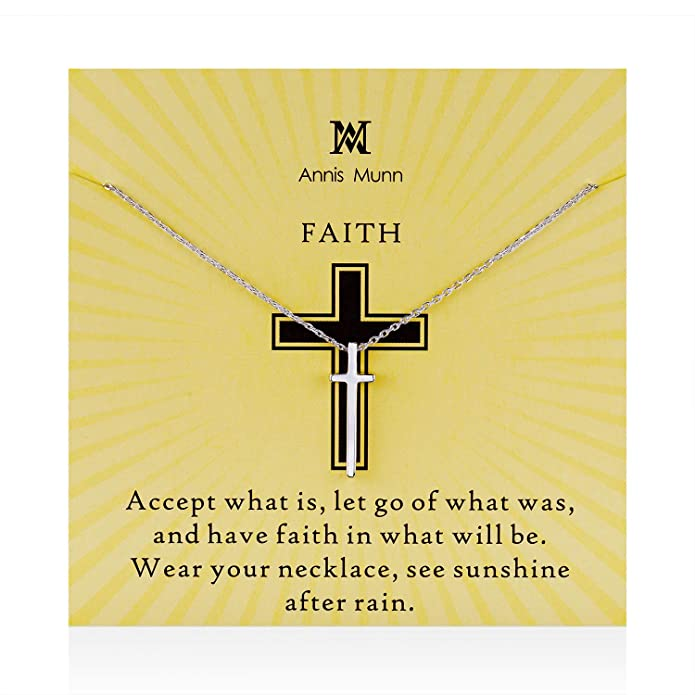 Annis Munn Faith Halskette - Kreuz Anhänger Sterling Silber 925 ...