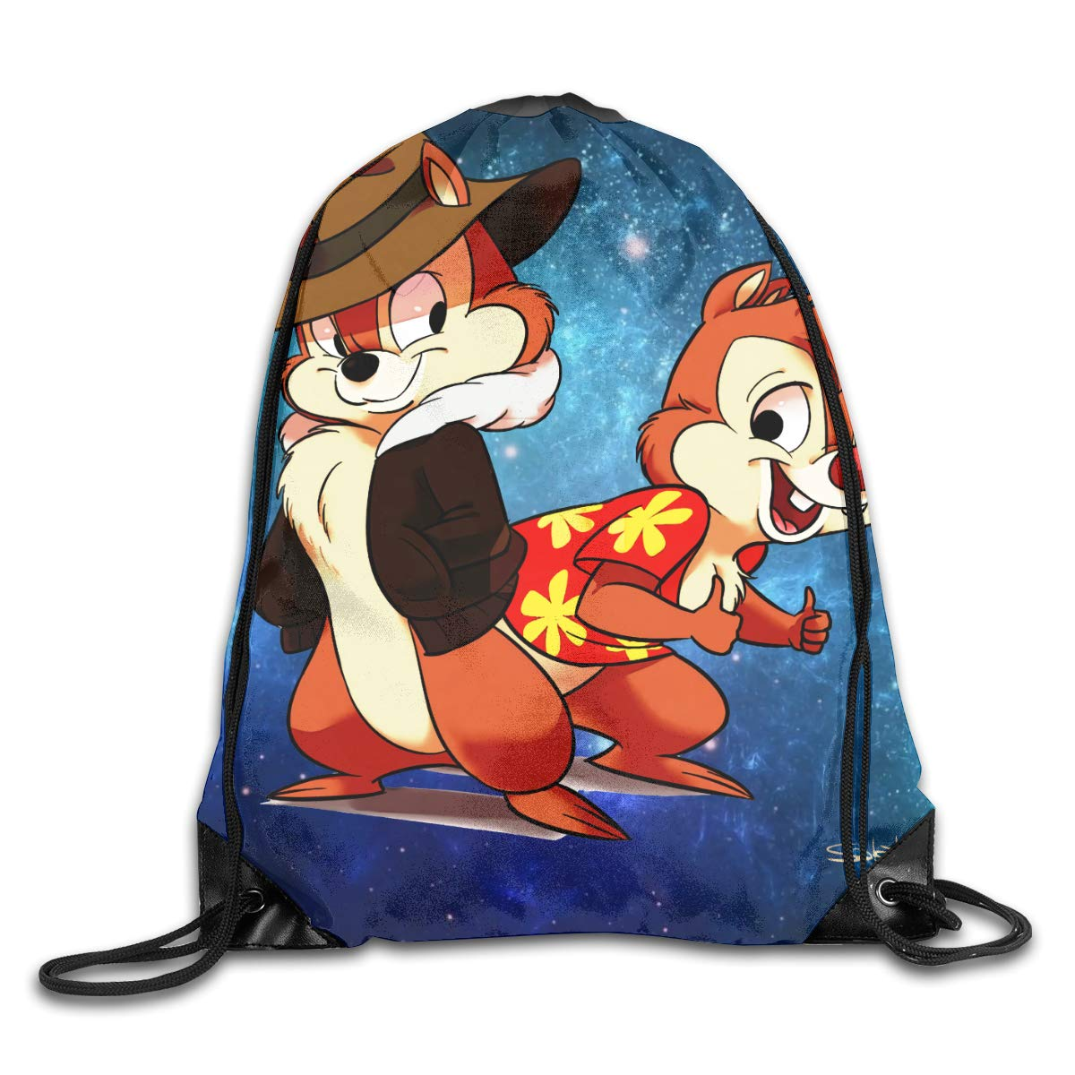 CAOI UUC Chip n Dale Rescue Rangers Gym Drawstring Backpack Bags