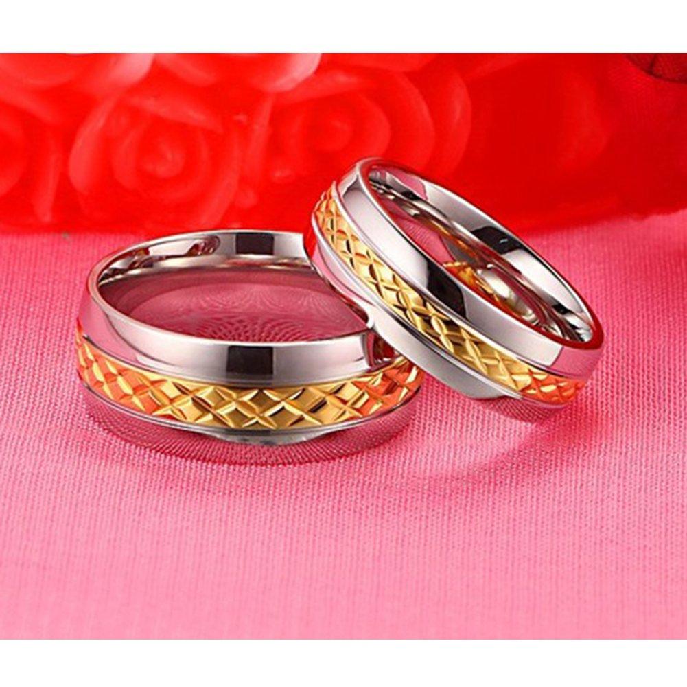 Amazon.com : Chryssa Novelty Gold Plated 8MM Men Titanium Stainless ...