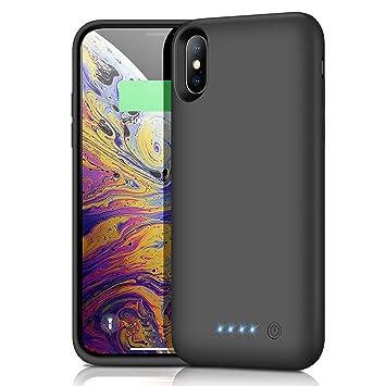 Funda Batería para iPhone X XS 10, Kilponen 6500mAh Funda Cargador Portatil Batería Externa Ultra Carcasa Batería Recargable Power Bank Case para ...