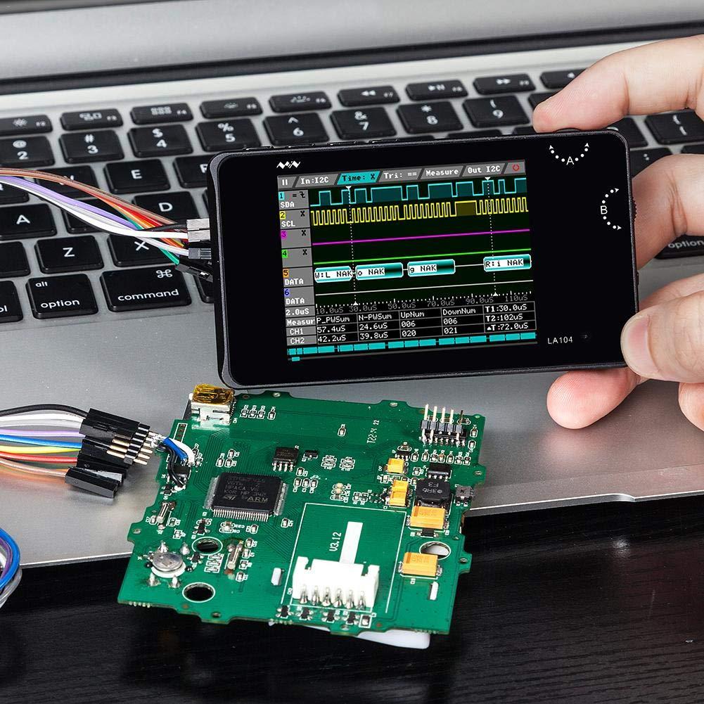 Navigatee Analizzatore logico digitale LA104 Mini USB 4 canali 100Mhz Frequenza di campionamento massima integrata 8MB Flash Storage 2.8Oscilloscopio