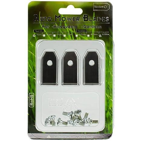 Powery 9X Cuchillas de Recambio, Cuchillas de Corte (0,75mm) para ...