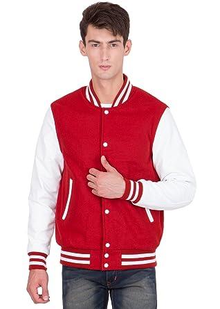 Caliber India Wool Body And Leather Sleeves Letterman Varsity Jacket