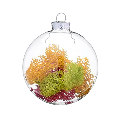 Sale 8 Cm Clear Glass Balls Pack Of 75 Blown Ornament Glass