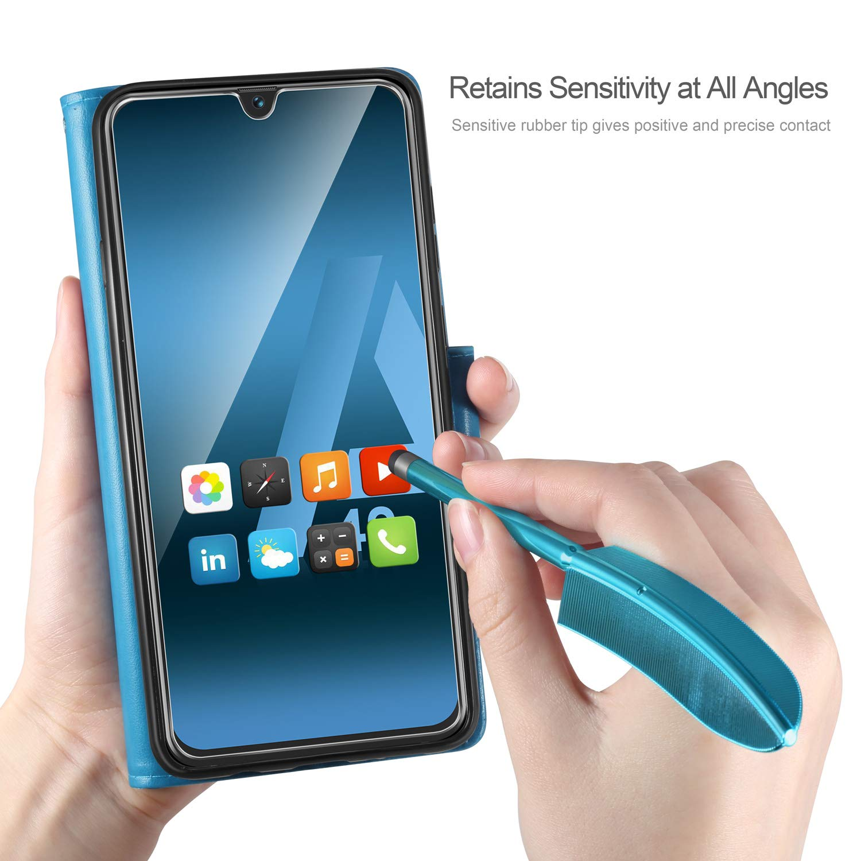 ivencase Funda Samsung Galaxy A40 Funda Piel PU Samsung Galaxy A40 Soporte Plegable Ranuras para Tarjetas Magn/ético Ultra-Delgado Carcasa para Samsung Galaxy A40 Azul