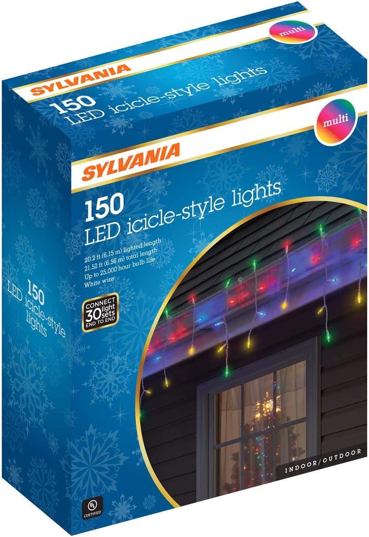 Sylvania Icicle Christmas Lights, Multi