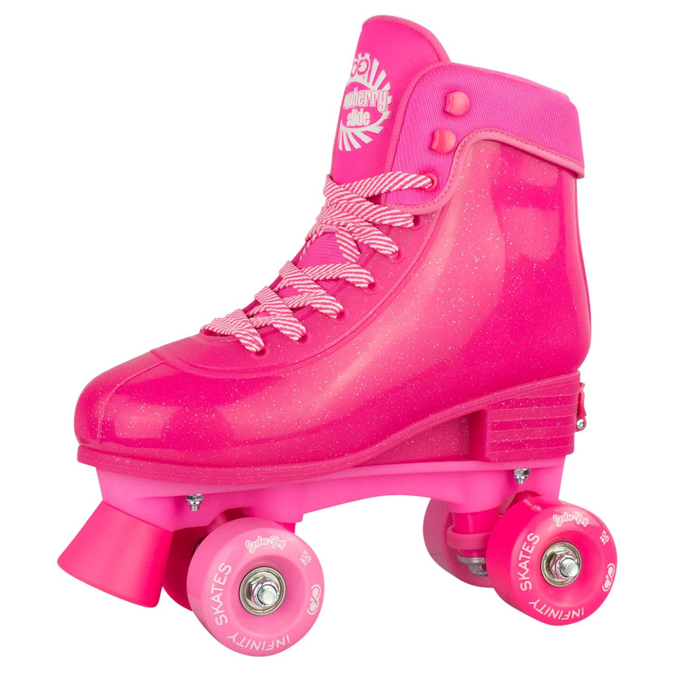 Infinity Skates Soda Pop Adjustable Roller Skates for Girls and Boys   Pink Medium