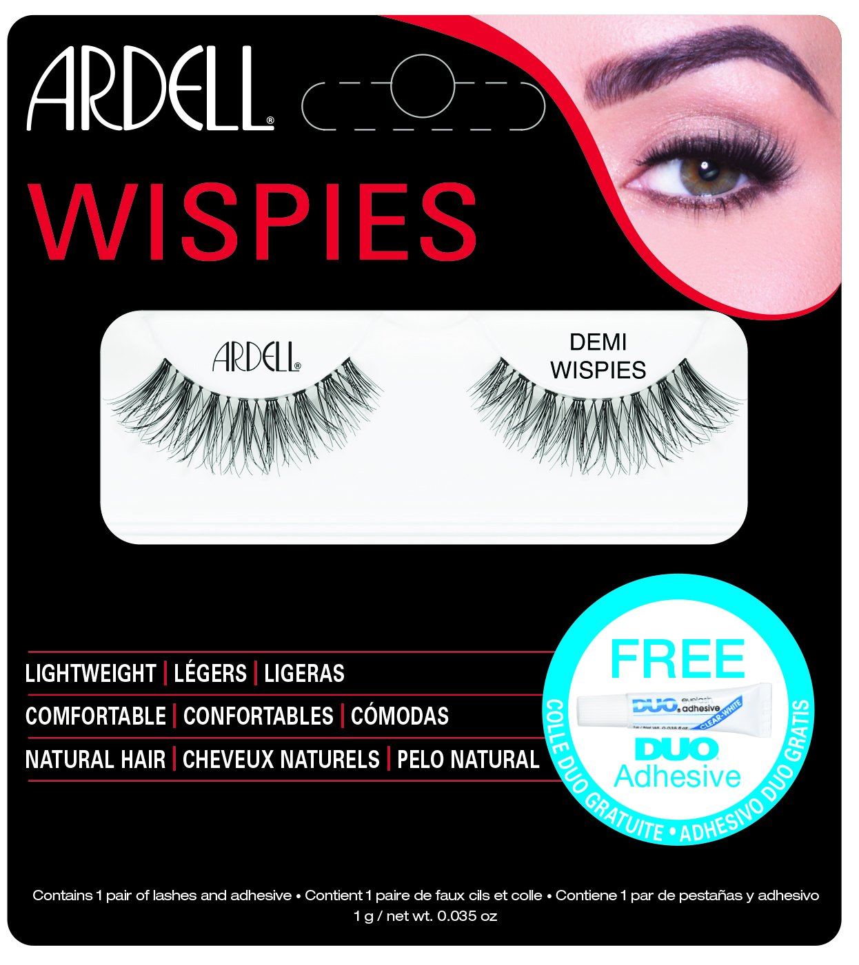 Ardell Lashes Demi Wispies with Free DUO Glue AII Industries AII68126B