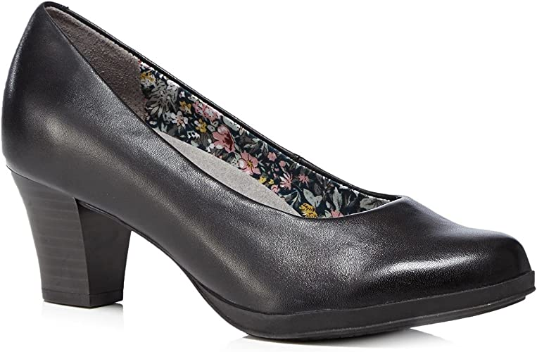 Angelica' Mid Heeled Court Shoes