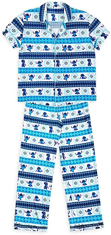 Disney Conjunto de pijama de punto para mujer
