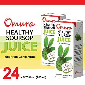 amazon com omura soursop graviola guanabana 100 juice 6 76 oz rh amazon com