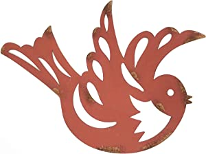 Xanter Red Distressed Metal Bird Wall Decor (14 3/4 x 11 x 1/16 inches)