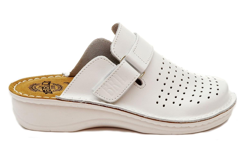 Dr Punto Rosso BRIL Chaussons D52 Sabots Mules Chaussons Chaussures B00KW4CJVC BRIL en Cuir Femme Dames Blanc 86f8a2d - boatplans.space