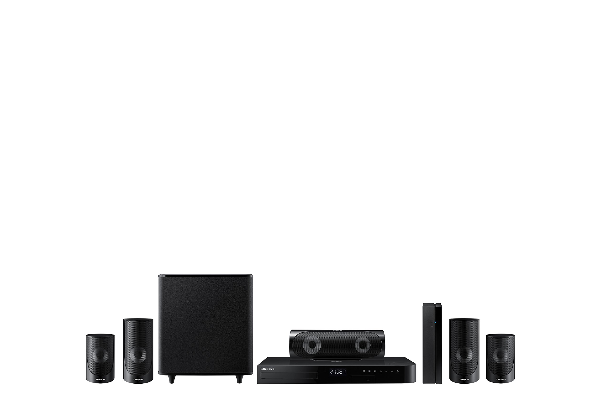 Samsung HT-J5500W 5.1 Channel 1000-Watt 3D Blu-Ray Home Theater System (2015 Model) by Samsung