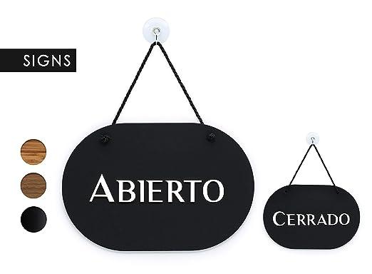 3DP Signs | óvalo con Estilo - Abierto/Cerrado - Cartel ...