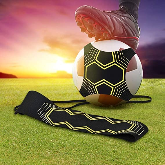 Nv Wang Futbol Trainer,Entrenador de F/útbol Solo Banda El/ástica para Entrenamiento de f/útbol Soccer Skill Trainer Kit Universal Se Adapta a # 3# 4# 5 Balones de Futbol para Ninos Adultos