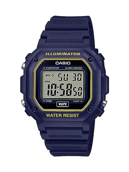 f3f1ad3230b5 CASIO Reloj Digital para Unisex Adultos de Cuarzo con Correa en Resina  F-108WH-2A2EF  Amazon.es  Relojes