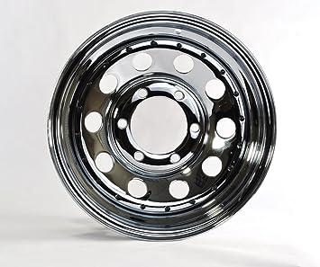 6 Lug On 5.5 in. 2-Pack Trailer Rim Wheel 15X6 4.27CB Black Spoke 2830 Lb