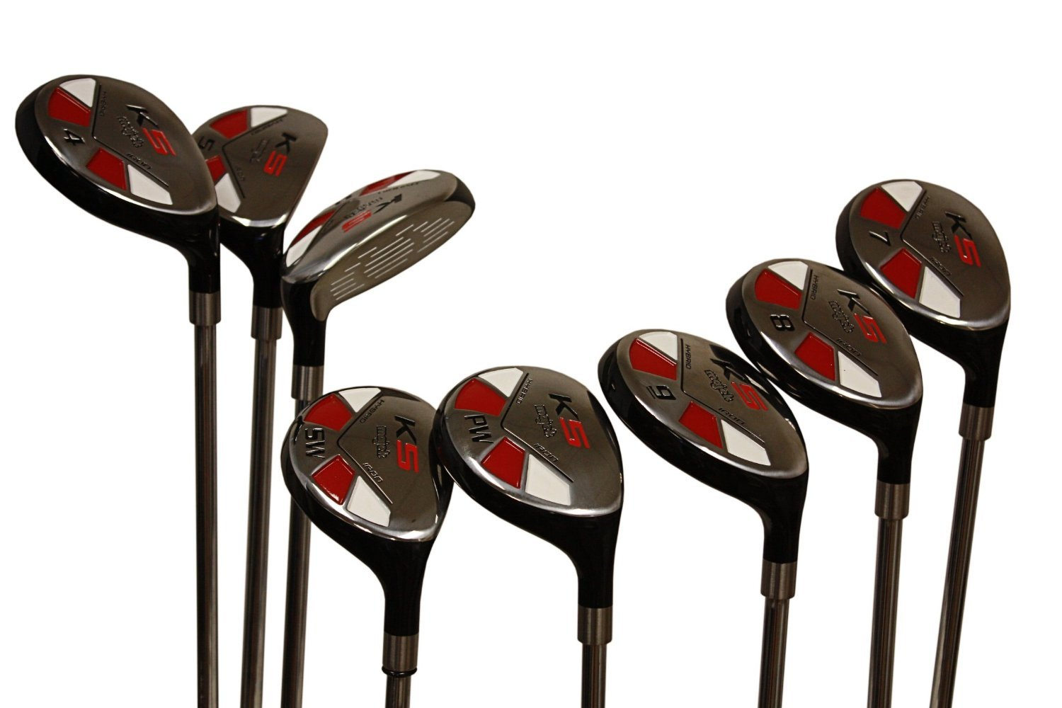 """Senior Men's Majek Golf All Hybrid Complete Full Set, which includes: #3, 4, 5, 6, 7, 8, 9, PW Senior Flex with Tacki-Mac Midsize Grips Right Handed New Rescue Utility """"A"""" Flex Clubs"""