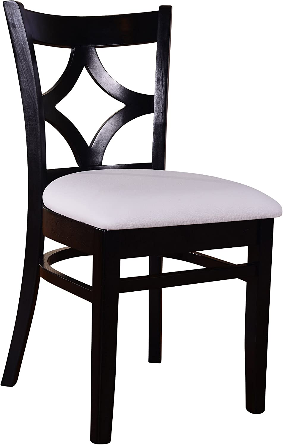 Beechwood Mountain BSD-23S-B Solid Beech Wood Side Chairs in Black for Kitchen and dining, set of 2