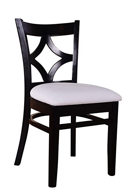 Beechwood Mountain BSD 23S B Solid Beech Wood Side Chairs In Black For  Kitchen