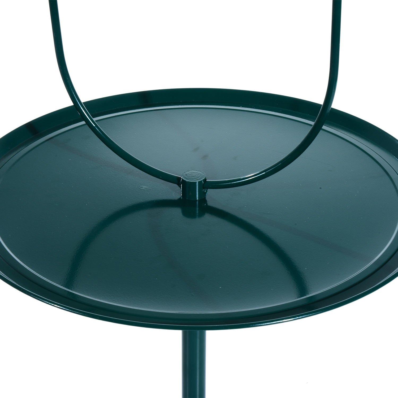 Green PawHut 49 Bird Play Stand w//Wheels