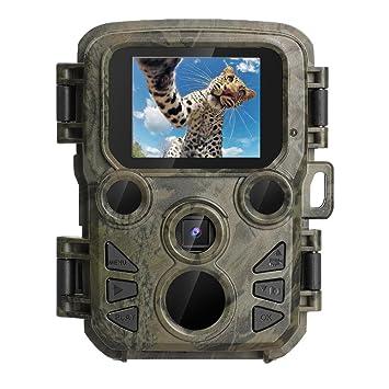 Cámara de Caza 12MP Fototrampeo Trail Cámara Cámara Vigilancia 1080P HD Impermeable IP56 con Infrarrojos PIR